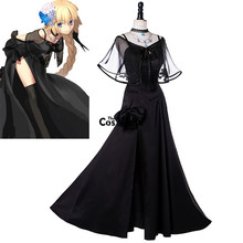 Anime Cosplay Costumes Outfit Uniform Tee-Dress Jeanne Grand-Order FGO Fate D'arc Joan
