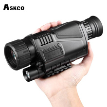 Askco 5X40 Digital Infrared Night Vision Goggle Monocular 200m Range Video DVR Imagers for Hunting Camera Device High Quality