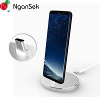 Ngansek Type C USB Desktop Voor Huawei P10 Nova 2 Opladen Dock Station voor Google Pixel S8 Plus Note 8 Charger Cradle Stand