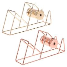 1pc Metal rose gold Tape Cutter Washi Tape Storage Organizer Cutter Stationery Office Tape Dispenser Office Supplies
