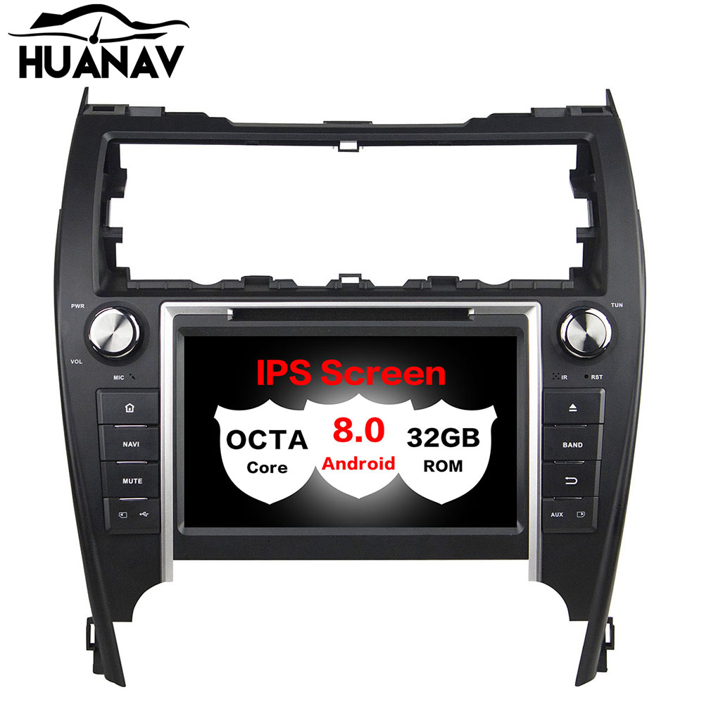 HUANVA Android 8.0 32G Car CD DVD Player GPS navigation For Toyota CAMRY 2012 multimedia player tape recorder 8-Core navi Audio