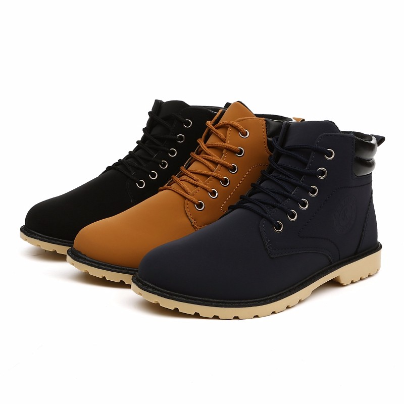 YWEEN Men Leather Boots Autumn Winter High Style Waterproof Fashion Outdoor Work Shoes Casual Martin Boot For Man Hot Sale 17