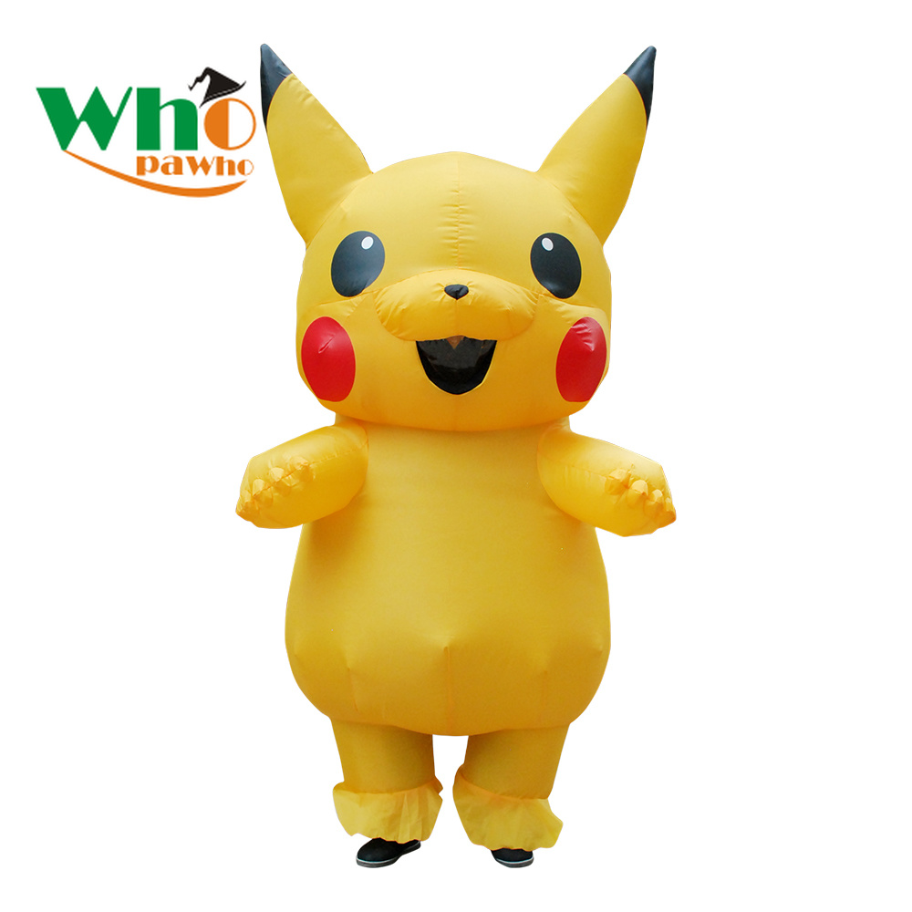 Christmas Costumes Fat Suit Inflatable Pikachu Costume Full Body Jumpsuit  Halloween Costumes for Men Adult Anime Cosplay