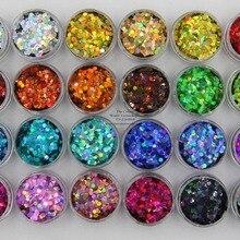24 голографические цвета Круглый в горошек 3 мм Размер Блестки для ногтей и искусства DIY decora