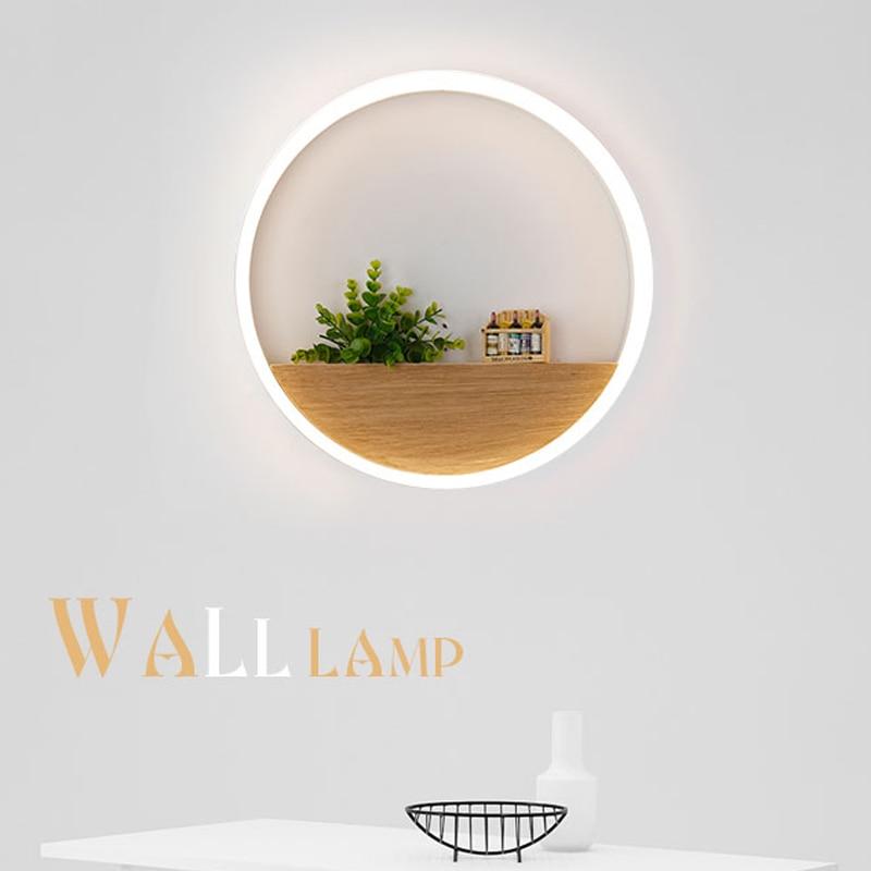 Modern Minimalist Wall Lamps <font><b>LED</b></font> Creative Circle Wine <font><b>bottle</b></font> Wall <font><b>Lights</b></font> Bedroom Bedside Lighting Corridor Balcony Stairs Lamp
