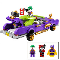 450pcs Superhero Series Batman Clown Chariot Car Child InsertingBuilding Blocks DOLL Model BOY Toys Children's day Gifts legoiNg