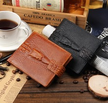 newest models high quality men s Genuine Leather short section dark button font b money b