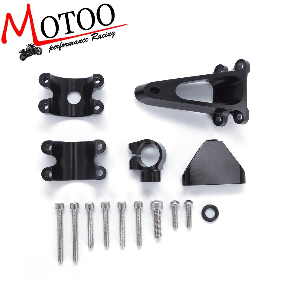 Моту - для Honda 01-07 CBR600 F4i мотоциклов Регулируемый рулевой демпфер стабилизировать Кронштейн Крепление набор аксессуаров