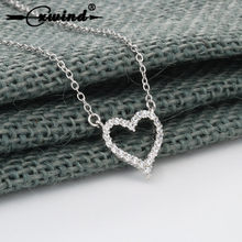 Cxwind Charm Heart Pave Zirconia Crystal Pendants Necklaces Heart Chain Necklace Jewelry for Women Statement Birthday Gift(China)