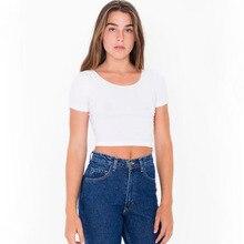 цена Sexy open-neck short round neck shirt cotton solid color multi-color multi-code T-shirt female short sleeve free shipping онлайн в 2017 году