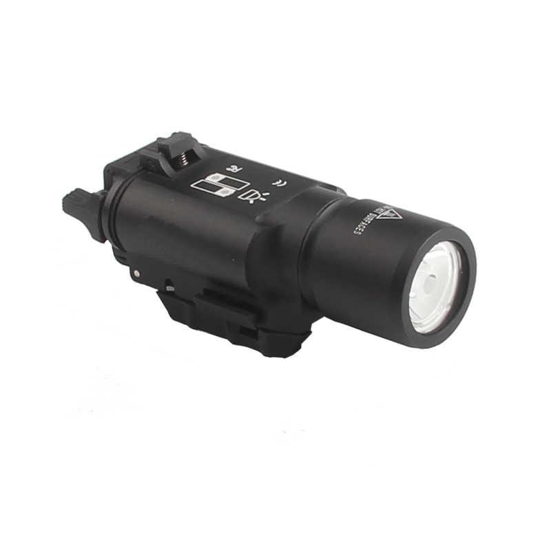 Tocha x300 led arma luz liga picatinny caça lanterna airsoft rifle glock pistola lanterna tática militar