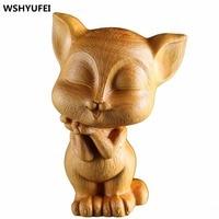 WSHYUFEI high quality boxwood carving artwork handmade home furnishings birthday / Christmas gift office decoration beautiful