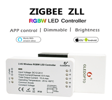 DC12-24V ZIGBEE RGBW Led Controller ZLL smart phone APP Amazon alexa voice control For Colorful RGBW LED Strip Light Ribbon Tape
