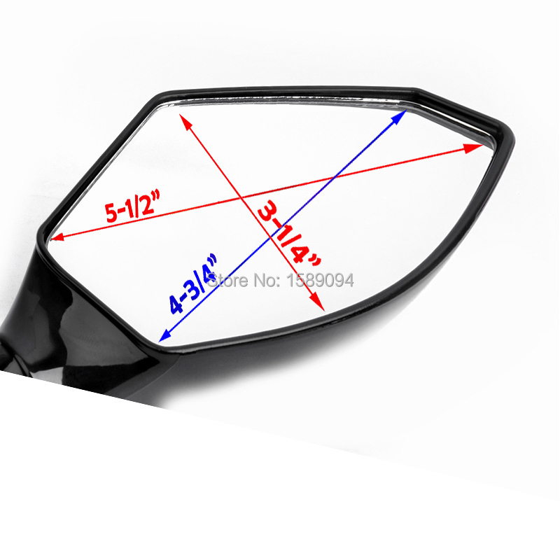 Black//Clear Turn Signal Integrated Fairing Mount Racing Sport Bike Rear View Rearview Side Mirror for GSXR Hayabusa CBR CBF Sport Street Bike