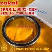 ZOKOL 6832RS bearing 6832 2RS 1000832 (61832) 6832 2RS Deep Groove ball bearing 160*200*20mm