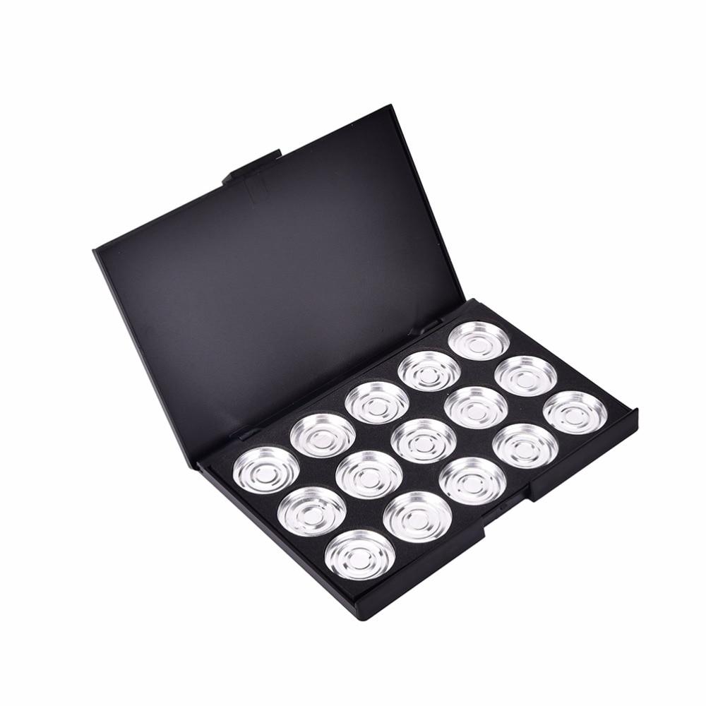 Empty Eyeshadow Pigment Aluminum Palette Pans Makeup DIY Makeup Eye Shadow Pigment Palette Case 15.5*10.5*1.3CM