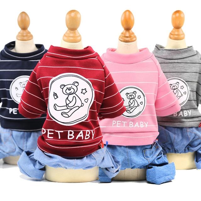 Autunno della molla Dei Jeans Giacca Casual Stile Pet Vestiti Del Cane Cani di P