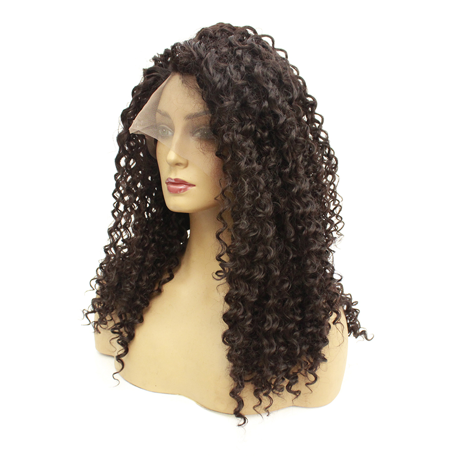 Wig Lace-Front-Wig Purple Synthetic Ombre Curly Cosplay Kinky Pink Black Medium for Women