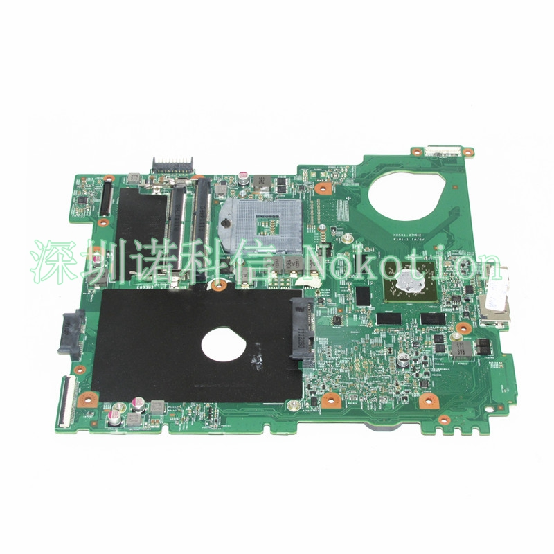 NOKOTION CN-0F3GY0 0F3GY0 F3GY0 Laptop Motherboard For Dell Vostro 3550 HM67 DDR3 Mainboard works nokotion cn 0uw953 uw953 mainboard for dell inspiron 1501 laptop motherboard 0uw953 ddr2 socket s1