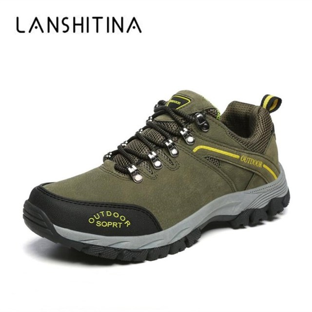 2018 Big Size Men Hiking Shoes Breathable New Men Autumn Outdoor Shoes Mountain Climbing Boots  Man Ankle Shoes Winter Sneakers