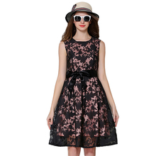 2016 New Fashion Leisure Women font b Dress b font Vestidos Elegant Printing Lace Summer Style