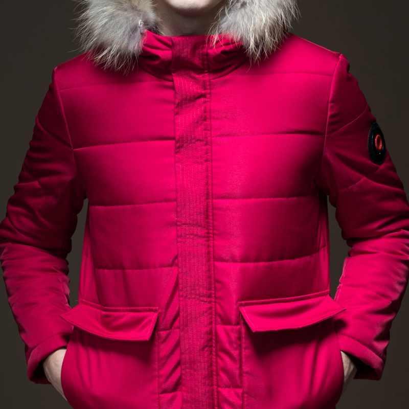 Зимние куртки мужские s куртки настоящие однотонные Casacos Pinli Pin Li новые осенние мужские костюмы платье однотонная Длинная с капюшоном пальто B183505429