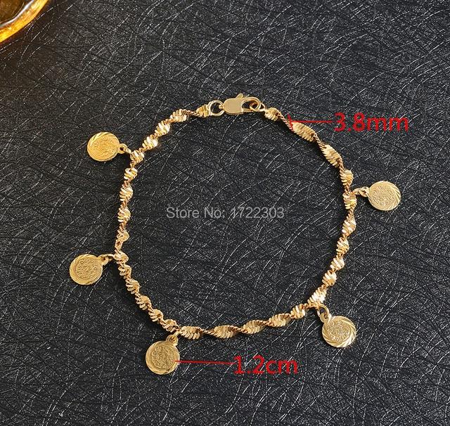 Bangrui Gelb Farbe Muslimischen Allah Alte Münzen Armband Armreifen