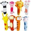 2016 baby toys sinos de mão animal de pelúcia brinquedo do bebê estilo animais newbron rattle toy for kids