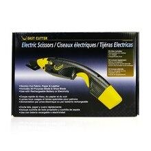 Akumulatorowe nożyce elektryczne do cięcia narzędzi do szycia z dwiema głowica tnąca i dodatkowa bateria do rzemiosła papier tekstylny