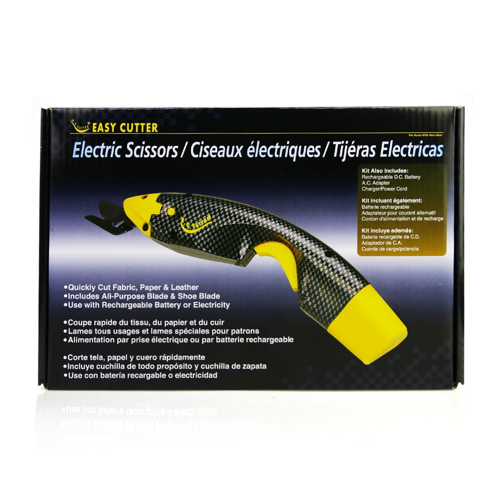 Cordless Power Electric Scissors Cutting Sewing Tool with Two Cutter Head and a Extra Battery for Crafts Fabric Paper