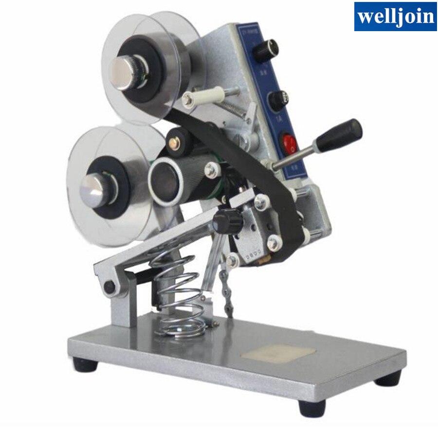 Machine d'impression chaude de ruban de couleur ZY-RM5, imprimante de ruban de chaleur, imprimante de date de sac de film