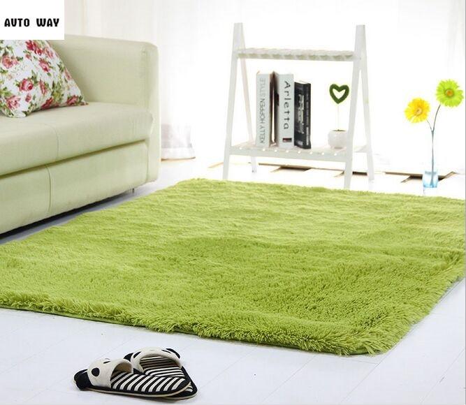 Modern Velvet Mat Living Room Rectangular Sofa Bedside Carpet Bedroom Mats Solid Big Size Rug Suede