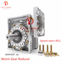 Relação de velocidade 40: 1 redutor de engrenagem de alta qualidade nmrv040 sem-fim  caixa de engrenagens rv40 com eixo de saída para nema24/32/34/36 stepper/servo motor