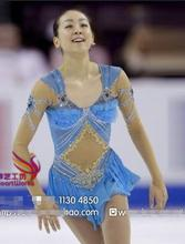 blue figure skating dress for competition women ice skating dresses custom ice figure clothing free shipping