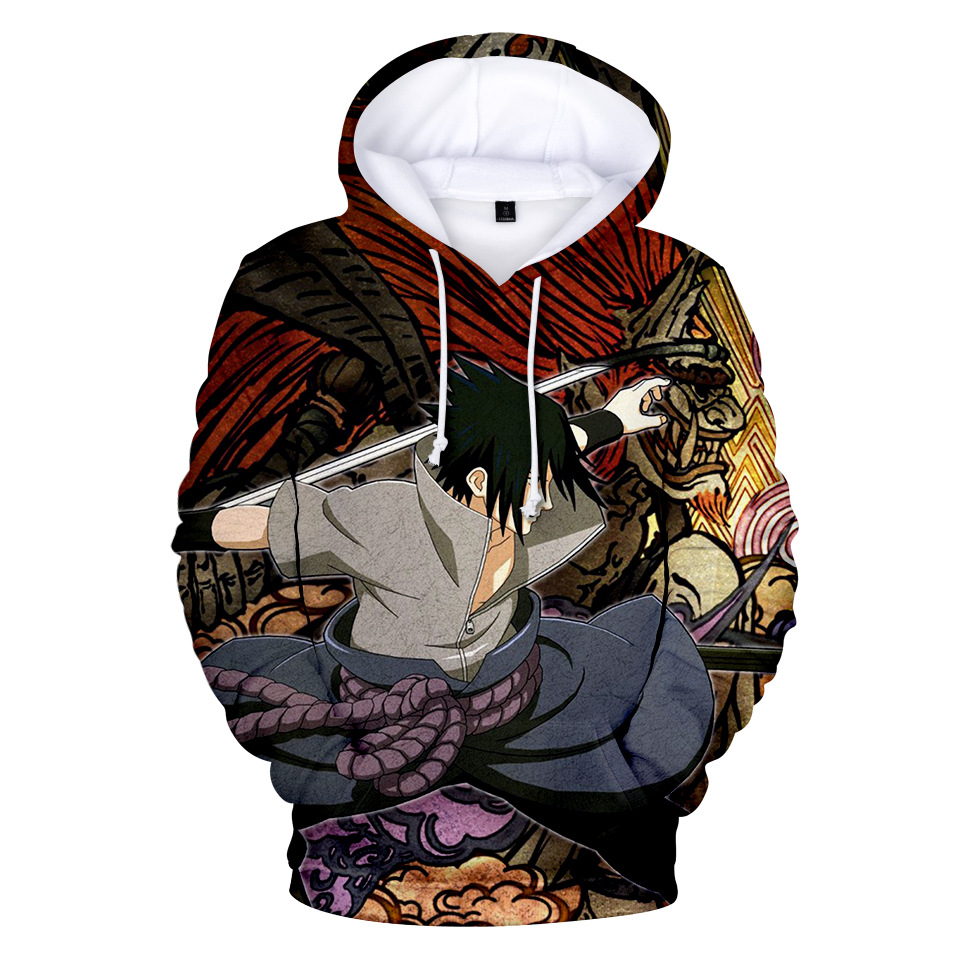 NEW Naruto Hoodie Coat Puiiover Sweatshirts Kakashi Sasuke 3D Hoodies Pullovers Men Women Long Sleeve Outerwear Hoodie B