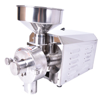 220V commercial flour mill medicine pulverizer cereal grain grinding machine steel bean wheat rice sesame grinder