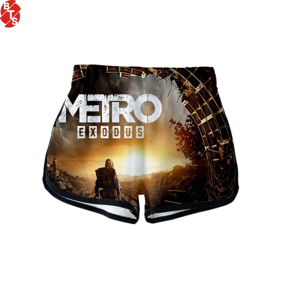 Metro Exodus 3D Printed   Shorts   for Women Fashion Streetwear   Shorts   2019 Hot Sale Girls Casual Wear Suitable for Summer
