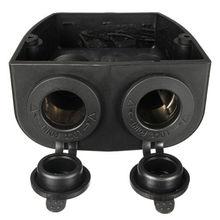 Двойной Автомобильный лодочный прикуриватель розетка сплиттер 12V зарядное устройство адаптер питания вилка