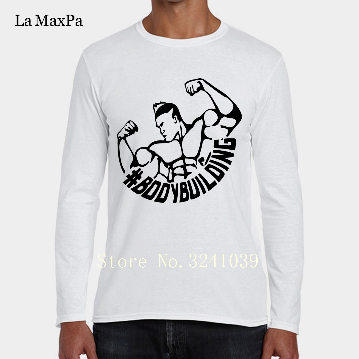 Winter Tee La Maxpa Bodybuilding Logo Tee Shirt For Men Funny Casual Men T Shirt Winter Style O Neck Unisex Tshirt For Men In T Shirts From Men S Clothing