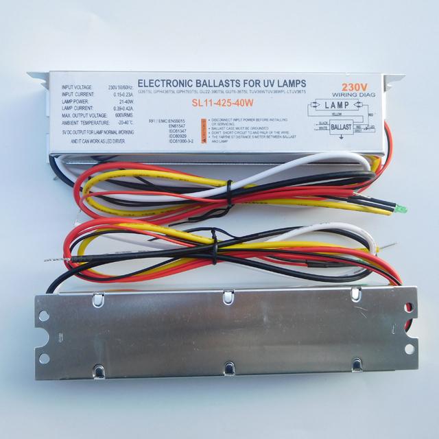 SL11-425-40W Germicidal Lamp Electronic Ballasts T5 40W UV Ballast for GPH436T5L GPH793T5L GPH843T5L G36T5L TUV36WT5 TUVPL-L36W