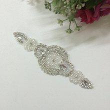 Bridal Sash Belt  Wedding Bridesmaid Sash Belt Wedding Bridal Sash Belt Crystal Rhinestone Applique Trim RA001