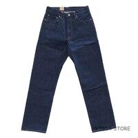 2018 Bob Dong 14,5 oz прямые джинсы винтажные джинсовые брюки для мужчин плюс размер