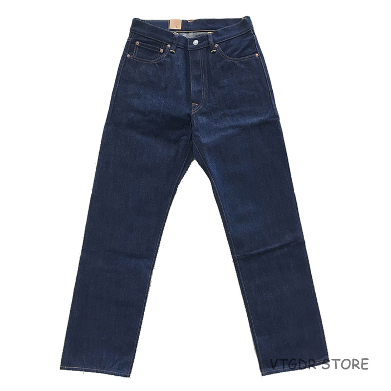 2018 Bob Dong 14.5oz Straight Jeans Vintage Selvage Denim Pants Trouser For Men Plus Size