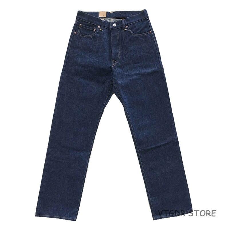 2018 Bob Dong 14.5oz Straight Jeans Vintage Selvage Denim Pants Trouser For Men Plus Size