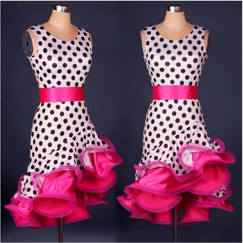 Latin Dance Dress Kvinder Zebra / Leopard Korn Latin Ballroom Dansekjoler Cha Cha / Rumba / Samba Dansetøj Vestido De Danza