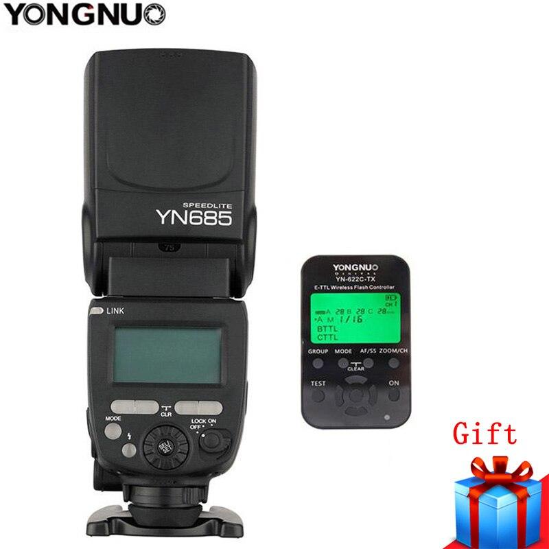 YongNuo YN685 YN685N GN60 2,4G sistema TTL HSS inalámbrico Manual Flash Speedlite + YN 622N TX Flash disparador para nikon D3200/D7200-in Flashes from Productos electrónicos    1