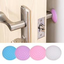 5 3 1Pcs Lot Protection Baby Safety Shock Absorbers Security Card Rubber Door Stoppers Wall Protectors Door Handle Bumpers cheap Silicone rubber Single loaded Solid Cushions Baby Protection 0-1M Baby Anti-collision Cushion support