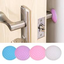 5/3/1Pcs/Lot Protection Baby Safety Shock Absorbers Security Card Rubber Door Stoppers Wall Protectors Door Handle Bumpers(China)