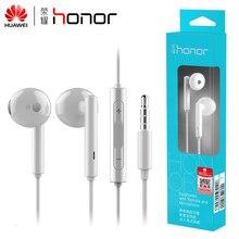 100% oryginalny Huawei Honor AM115 słuchawki z mikrofonem dla Xiaomi Huawei uniwersalny telefon pudełko do sprzedaży detalicznej wysoki bas jakości darmowa wysyłka