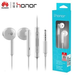 Image 1 - Huawei Honor AM115 écouteurs, Original avec micro pour Xiaomi Huawei, boîte de détail universelle pour téléphone, livraison gratuite de haute qualité pour les basses